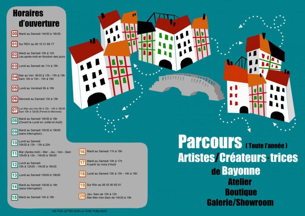 Parcours des artistes et créateurs de Bayonne - Atelier Boutique Showroom - Recto