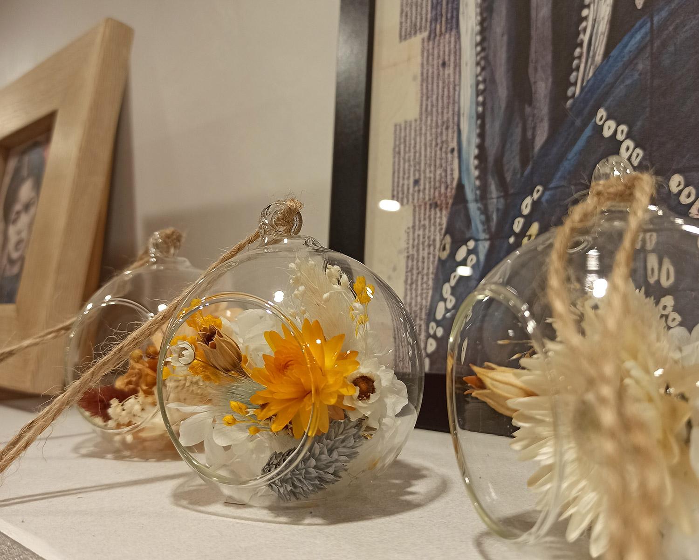 boule décorative fleurs séchées